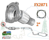 FX2071 Semi Direct Fit Exhaust Flange Repair Flex Pipe Replacement Kit With Gasket - Bear River Converters