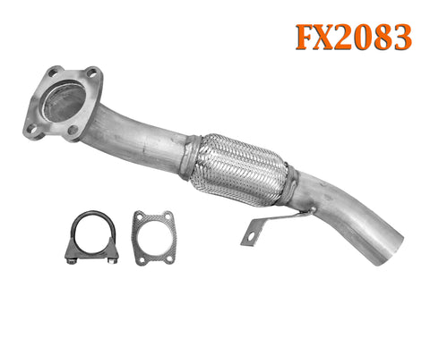 FX2083 Semi Direct Fit Exhaust Flange Repair Flex Pipe Replacement Kit With Gasket