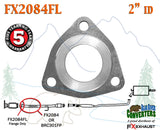 "FX2084FL 2"" ID Direct Fit Exhaust Front Pipe Triangle Flange Repair Replacement - Bear River Converters"