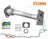 FX2086 Direct Fit Exhaust Flange Repair Flex Pipe Replacement Kit w/ Gaskets - Bear River Converters