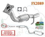 FX2089 Semi Direct Fit Exhaust Flange Repair Flex Pipe Replacement Kit w/ Gasket
