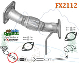 FX2112 Direct Fit Exhaust Flange Repair Flex Pipe Replacement Kit w/ Gaskets