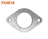 "FX4018 Direct Fit Converter to Muffler Flat Oval Exhaust Flange 2 1/4"" 2.25"" ID"