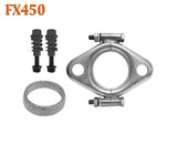 "FX450 2 1/4"" ID Exhaust Flange, Gasket & Spring Bolt Stud Nut Hardware Repair"