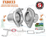 "FX8033 3"" Semi Direct Fit Exhaust Flange Rear of Y-Pipe Repair Kit w/ Hardware - Bear River Converters"