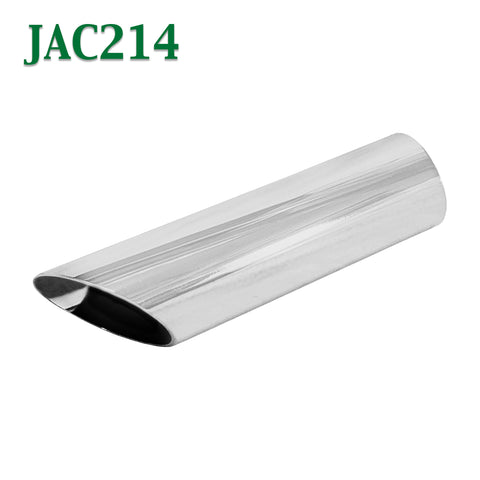 "JAC214 2 1/4"" 2.25"" Chrome Angle Cut Cowboy Exhaust Tip 2 1/2"" 2.5"" Outlet / 9"" Long"