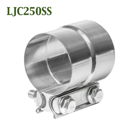 "LJC250SS 2.5"" 2 1/2"" Lap Joint Seal Exhaust Clamp Bear River Quality Stainless Steel"