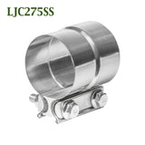 "LJC275SS 2.75"" 2 3/4"" Lap Joint Seal Exhaust Clamp Bear River Quality Stainless Steel"