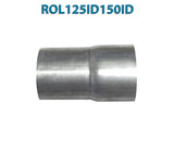 "ROL125ID150ID 617581 1 1/4"" ID to 1 1/2"" ID Universal Exhaust Pipe to Pipe Adapter Reducer"