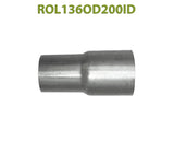 "ROL136OD200ID 548508 1 13/16"" OD to 2"" ID Universal Exhaust Component to Pipe Adapter Reducer"