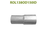 "ROL138OD150ID 548520 1 3/8"" OD to 1 1/2"" ID Universal Exhaust Component to Pipe Adapter Reducer"
