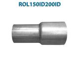 "ROL150ID200ID 548506 1 1/2"" ID to 2"" ID Universal Exhaust Pipe to Pipe Adapter Reducer"