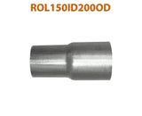 "ROL150ID200OD 548557 1 1/2"" ID to 2"" OD Universal Exhaust Pipe to Component Adapter Reducer"