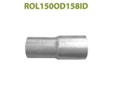 "ROL150OD158ID 548554 1 1/2"" OD to 1 5/8"" ID Universal Exhaust Component to Pipe Adapter Reducer"
