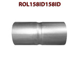"ROL158ID158ID 548574 1 5/8"" ID to 1 5/8"" ID Universal Exhaust Pipe to Pipe Coupling Connector"