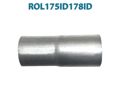 "ROL175ID178ID 617575 1 3/4"" ID to 1 7/8"" ID Universal Exhaust Pipe to Pipe Adapter Reducer"