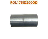 "ROL175ID200OD 548507 1 3/4"" ID to 2"" OD Universal Exhaust Pipe to Component Adapter Reducer"