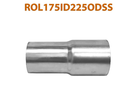 "ROL175ID225ODSS 648221 1 3/4"" ID to 2 1/4"" OD Stainless Steel Exhaust Pipe to Component Adapter Reducer"