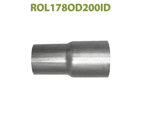"ROL178OD200ID 548528 1 7/8"" OD to 2"" ID Universal Exhaust Component to Pipe Adapter Reducer"