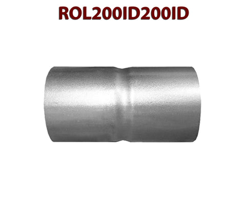 "ROL200ID200ID 548504 2"" ID to 2"" ID Universal Exhaust Pipe to Pipe Coupling Connector"