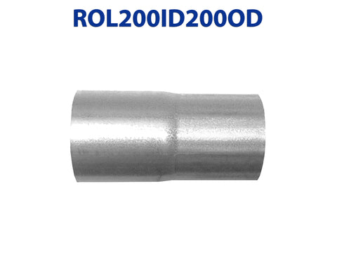 "ROL200ID200OD 548501 2"" ID to 2"" OD Universal Exhaust Pipe to Component Coupling Connector"