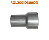 "ROL200ID300OD 617572 2"" ID to 3"" OD Universal Exhaust Pipe to Component Adapter Reducer"