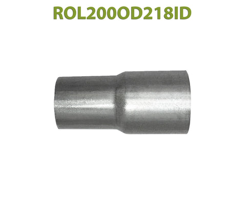 "ROL200OD218ID 548514 2"" OD to 2 1/8"" ID Universal Exhaust Component to Pipe Adapter Reducer"