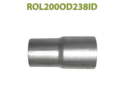 "ROL200OD238ID 548579 2"" OD to 2 3/8"" ID Universal Exhaust Component to Pipe Adapter Reducer"