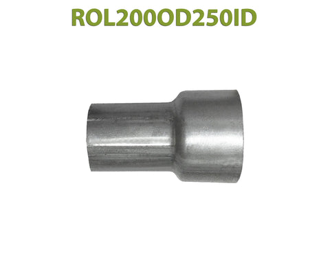 "ROL200OD250ID 548505 2"" OD to 2 1/2"" ID Universal Exhaust Component to Pipe Adapter Reducer"