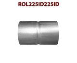 "ROL225ID225ID 548511 2 1/4"" ID to 2 1/4"" ID Universal Exhaust Pipe to Pipe Coupling Connector"