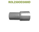 "ROL250OD300ID 617571 2 1/2"" OD to 3"" ID Universal Exhaust Component to Pipe Adapter Reducer"
