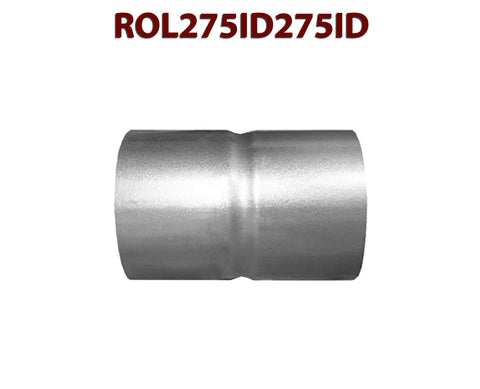 "ROL275ID275ID 548586 2 3/4"" ID to 2 3/4"" ID Universal Exhaust Pipe to Pipe Coupling Connector"