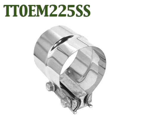 """2.25/"""" 2-1//4 Stainless Steel Lap Joint Band Exhaust Clamp Buckle type-powerful"""