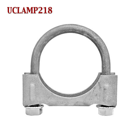 "2 1/8"" Exhaust Clamp U Bolt Muffler Saddle Style For 2.125"" Pipe 5/16"" Rod"