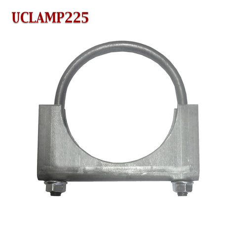 "2 1/4"" Exhaust Clamp U Bolt Muffler Saddle Style For 2.25"" Pipe 5/16"" Rod"