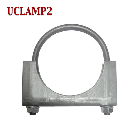 "2"" Exhaust Clamp U Bolt Muffler Saddle Style 5/16"" Rod"