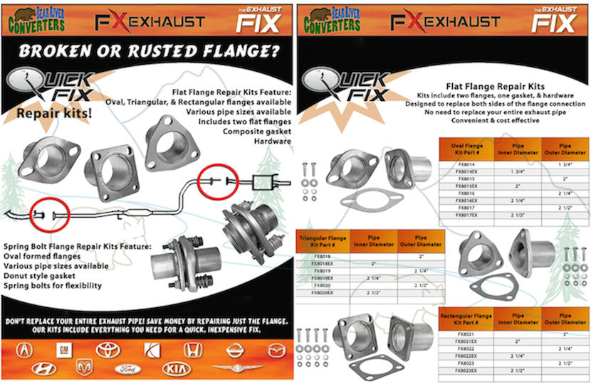Bear River Converters FX Exhaust QuickFix Kits
