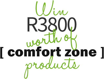 Win R3800 worth of Comfort Zone Products