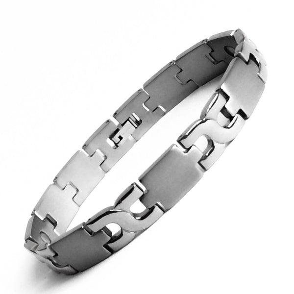 Man Titanium Magnetic Therapy Bracelet Pain Relief for Arthritis and Carpal Tunnel