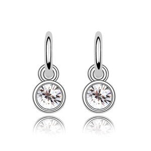 Classic Drop Earrings with Sparkle White Crystal