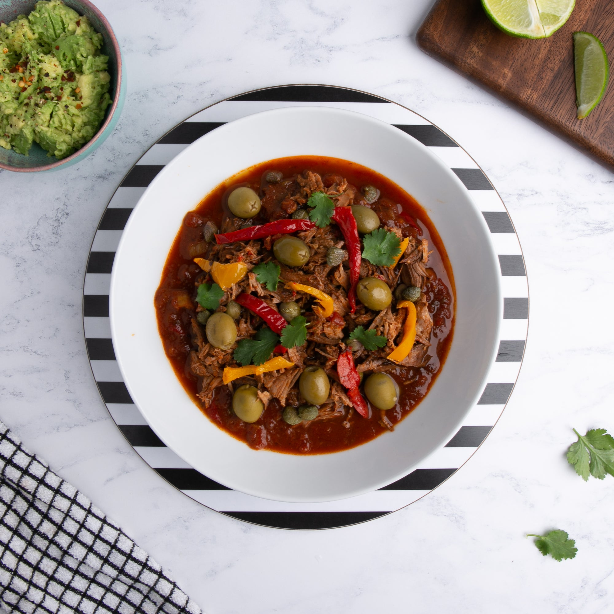 Gluten and Dairy Free Ropa Vieja Beef Stew - vegan option