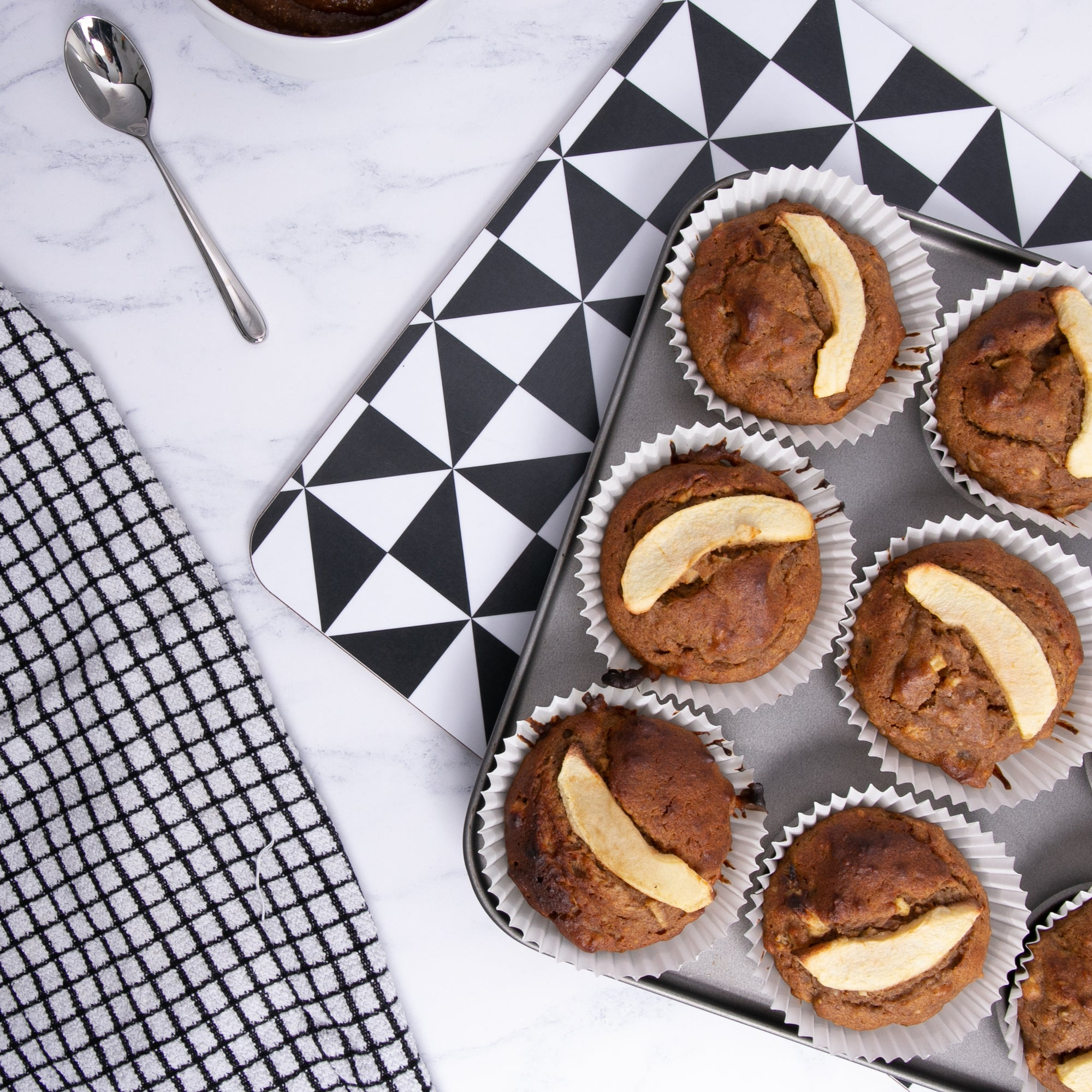 Salted Caramel, Walnut & Apple Muffins