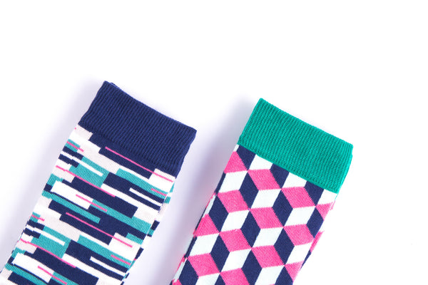 Colourful cotton socks from MAiK London
