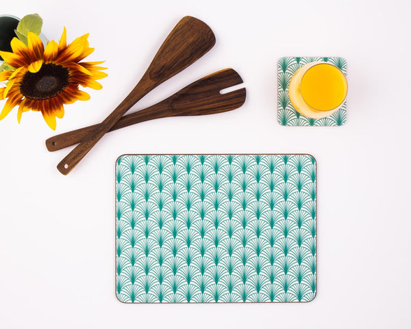 Placemat set with an art deco print from MAiK London