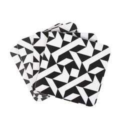 Monochrome set of coasters from MAiK London