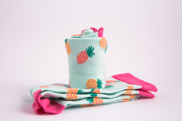 Colourful Pineapple socks from MAiK London