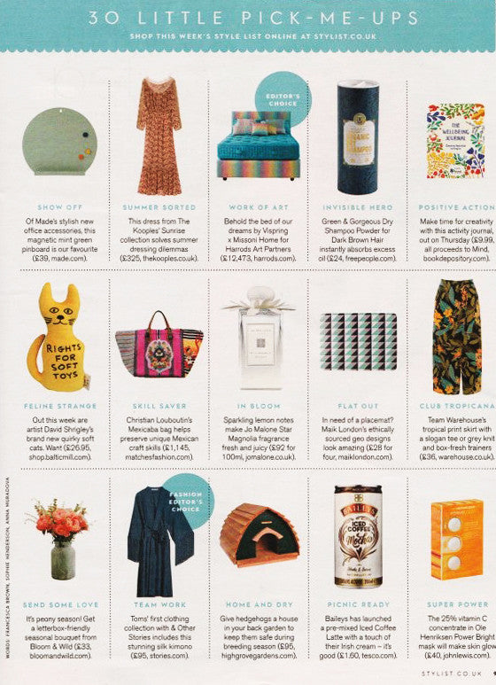 Pure Placemat from MAiK London featured in the Style List