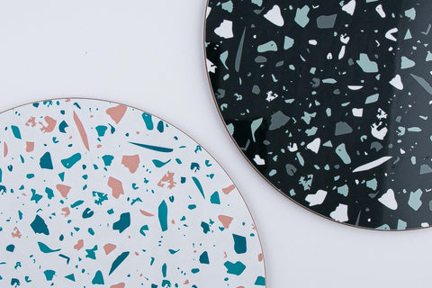 MAiK White and Black Terrazzo Placemats