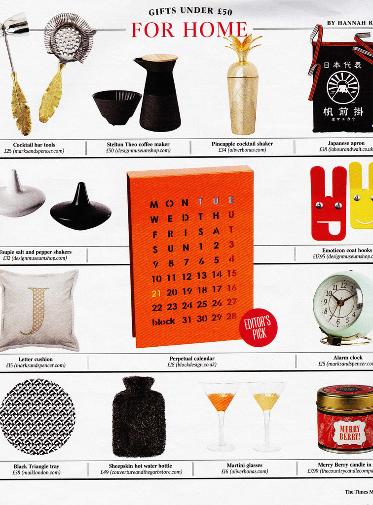 Black and White birch tray from MAiK London featured in The Times Magazine.