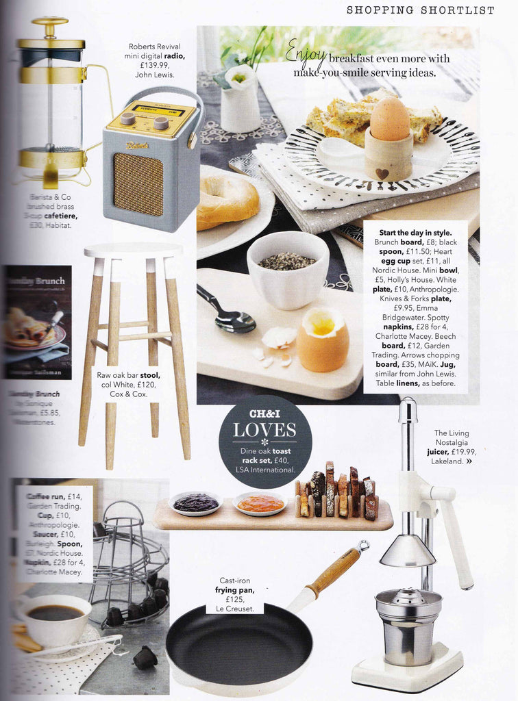 Geometric chopping board by MAiK London featured in Country Homes & Interiors.